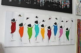 gemälde acryl leinwand dekoration abstrakt keilrahmen bunt