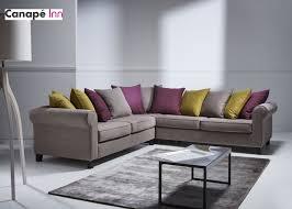 home spirit canapé canapé d angle sofa chic en tissu recevez tous vos amis pour passer
