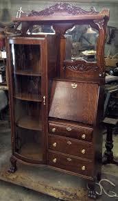 Drop Front Secretary Desk by Antique Drop Front Secretary Desk With Bookcase Bobsrugby Com