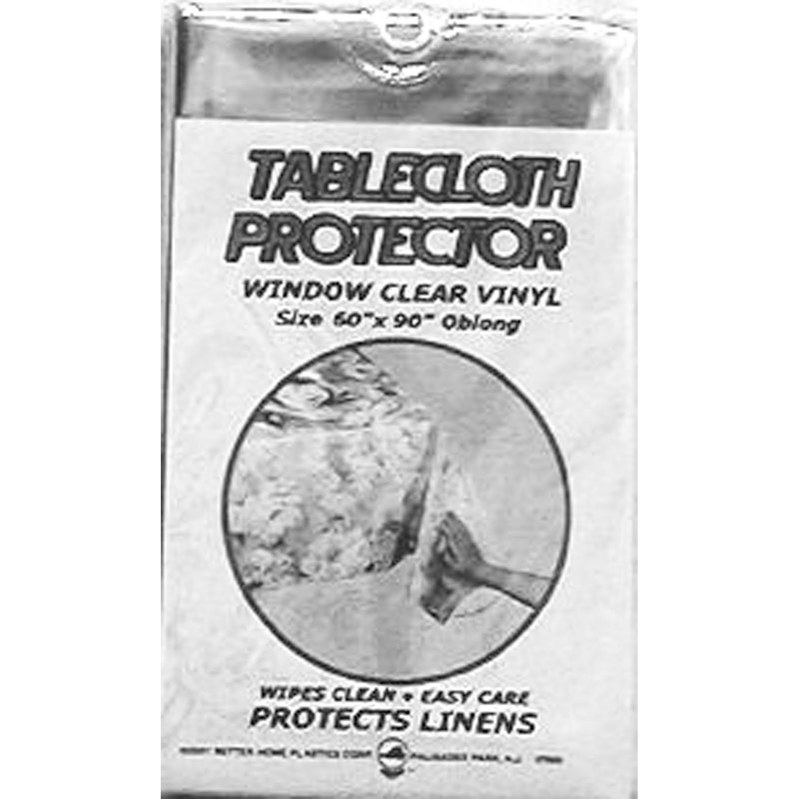 "Vinyl Tablecloth Protector Wipes Clean Protect Linens 70"" Round"