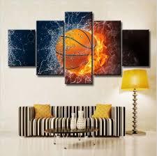 heißer verkauf feuer basketball hd poster schlafzimmer wand dekoration ölgemälde auf leinwand mit rahmen buy ölgemälde neues design wanddekoration