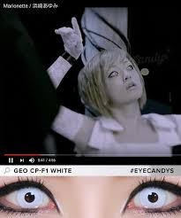 Cheap Prescription Halloween Contacts Canada by Buy Geo Animation Pearl White Halloween Contact Lenses Eyecandys