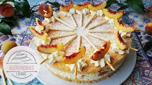 pfirsich raffaello torte