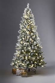 7 Ft White Pre Lit Christmas Tree by White Christmas Trees White Pre Lit Christmas Trees Next Uk