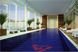 Cool Swimming Indoor Pool Residential Design Ideas With Window Wall