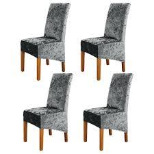 4 stück samt esszimmer stuhlhussen hochzeit schonbezüge high back bankett nachbildung grau