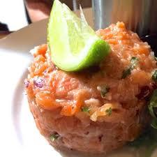 comment cuisiner du saumon surgelé recette tartare de saumon frais au citron vert toutes les recettes