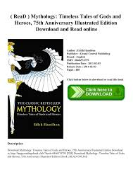 ReaD Mythology Timeless Tales Of Gods And Heroes 75th Anniversary Illustrated Edition Download Read Online Pages 1