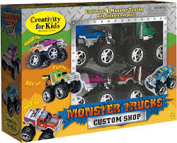 Monster Trucks Custom Shop (4 Truck Pack) | Fantastic Kids Toys