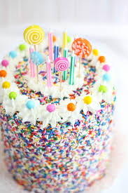 Rice Krispie Treat Sprinkle Cake Sprinkle Bakes is Four