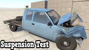 100 Truck Suspension BeamNG Drive Flatbed Pickup Test Crash YouTube