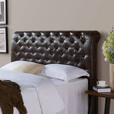 Black Leather Headboard With Diamonds by Bedroom Marvelous Diamond Tufted King Headboard Headboard Frame