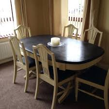 Painted Dining Room Table Chalk Paint Makeover Complete Pine And Chairs Transformed With
