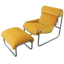 Tri Fold Lounge Chair by Extraordinary Tubular Chrome Italian Lounge Chair And Ottoman