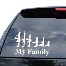 100 Rife Truck Parts Amazoncom MY FAMILY ASSAULT RIFE GUNS PISTOL Decal Sticker Car