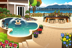 Illustration Of Beautiful Backyard Garden Royalty Free Cliparts ... 24 Beautiful Backyard Landscape Design Ideas Gardening Plan Landscaping For A Garden House With Wood Raised Bed Trees Best Terrace 2017 Minimalist Download Pictures Of Gardens Michigan Home 30 Yard Inspiration 2242 Best Garden Ideas Images On Pinterest Shocking Ponds Designs Veggie Layout Vegetable Designing A Small 51 Front And