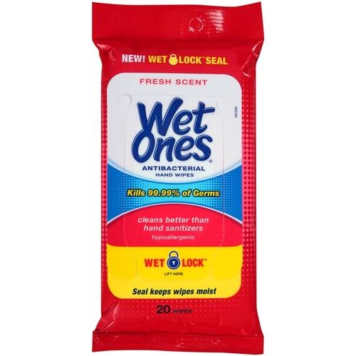 Wet Ones Antibacterial Hand Wipes - 20 Wipes, Fresh Scent