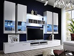 kryspol wohnwand alfa ii anbauwand wohnzimmer set modern