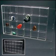 Image Is Loading Rock Display Case Acrylic Glass Curio W 24