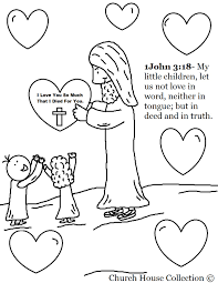 Jesus Loves The Little Children Craft Inside Preschool Sunday Within Love Coloring Pages