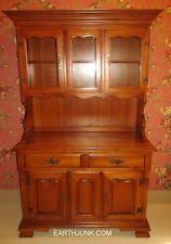 ethan allen dry sink maple china cabinet hutch with removable