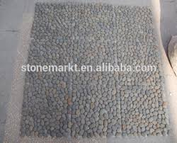 China Outdoor Pebble Stone Floor Mat For