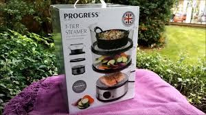 steamer cuisine progress 3 tier electric food steamer