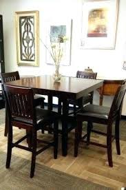 Pub Style Dining Room Table Furniture Sets With Dark Brown 8 Chairs