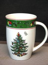 Spode Christmas Tree Mug And Coaster Set by 16 Oz Ceramic Coffee Mug Spode Disneys Celebration Christmas Tree