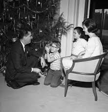FSU President John E Champion With His Wife Mary And Their Children By The Christmas