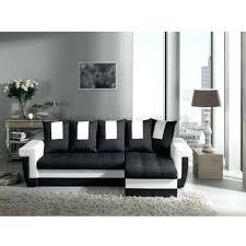 canapé noir et blanc convertible canape d angle blanc et noir modern sofa canapac dangle