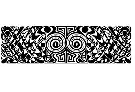 Maori Triangle Armband Tattoo Model Photo 2