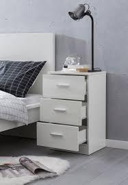 finebuy nachttisch 38x66 5x35cm holz nachtkonsole hochglanz nachtkästchen für boxspringbett schlafzimmer bett tischchen nachtschrank mit 3