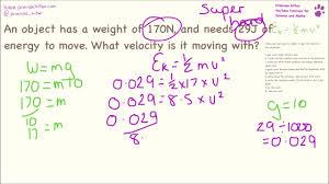 Kinetic Energy Calculations Easy To Super Hard Ek1 2mv2