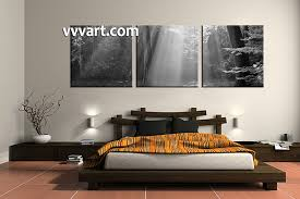 3 Piece Canvas Wall Art Oil Paintings Bedroom Black And White Large
