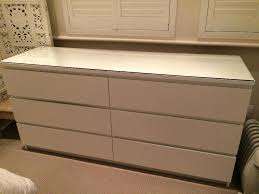 Malm 6 Drawer Chest Package Dimensions by Ikea Hopen Drawer Chest Black Brown Frosted Glass Hemnes Dresser