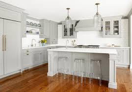 Gray Kitchen Cabinets Colors Custom Kitchen With Gray Cabinets Home Bunch Interior Design Ideas