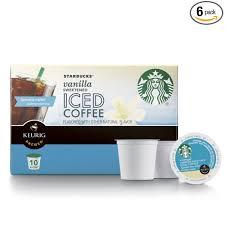 Starbucks Sweetened Iced Coffee Keurig Pods Vanilla