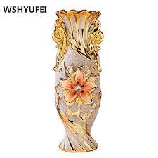 European Style Retro Resin Vase Home Furnishing Decoration Living Room Dining Table Vases Flower