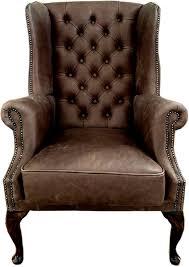 casa padrino chesterfield leder ohrensessel vintage braun braun wohnzimmer sessel chesterfield sessel chesterfield wohnzimmer möbel