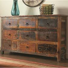 Rustic Acacia And Teak 9 Drawer Accent Cabinet 950365
