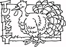 Free Printable Turkey Coloring Page