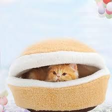 Poochplanet Dog Bed by Delicate Jin Link Hamburger Cat Litter Kitten Nest Detachable Cat