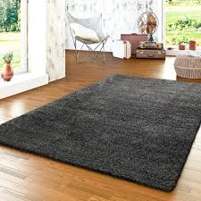 einfarbiger hochflor teppich für wohnzimmer modern