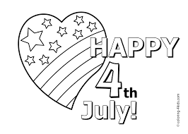 Happy July 4 Coloring Pages I Love Independence Day For Kids Printable