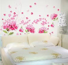 Wall Mural Decals Flowers by Amaonm Pink Cherry Blossom Tree Flowers Birds And Butterfly Wall