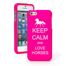 For iPhone 4 4S 5 5S 5c Hot Pink Rubber Hard Case Keep Calm and