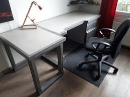 bureau beton ciré diy bureau indus acier metal beton cire steel concrete desk 1