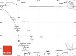 Blank Simple Map Of San Diego County
