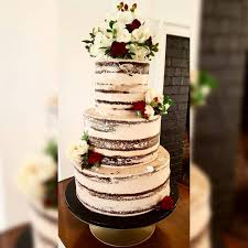 Naked Chocolate Rustic Wedding Cake